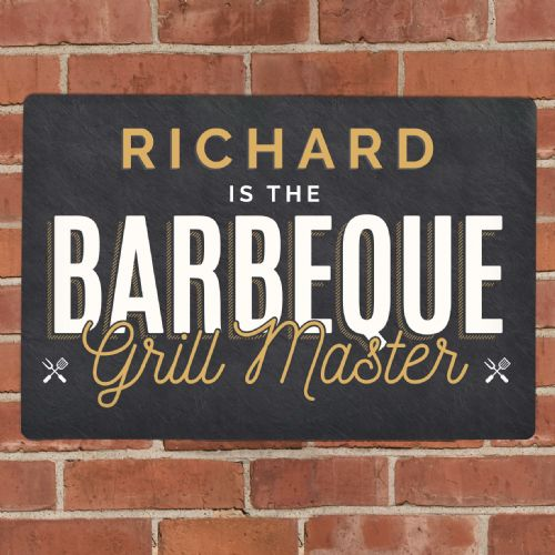 Personalised Metal Garden BBQ Wall Sign Plaque Gift